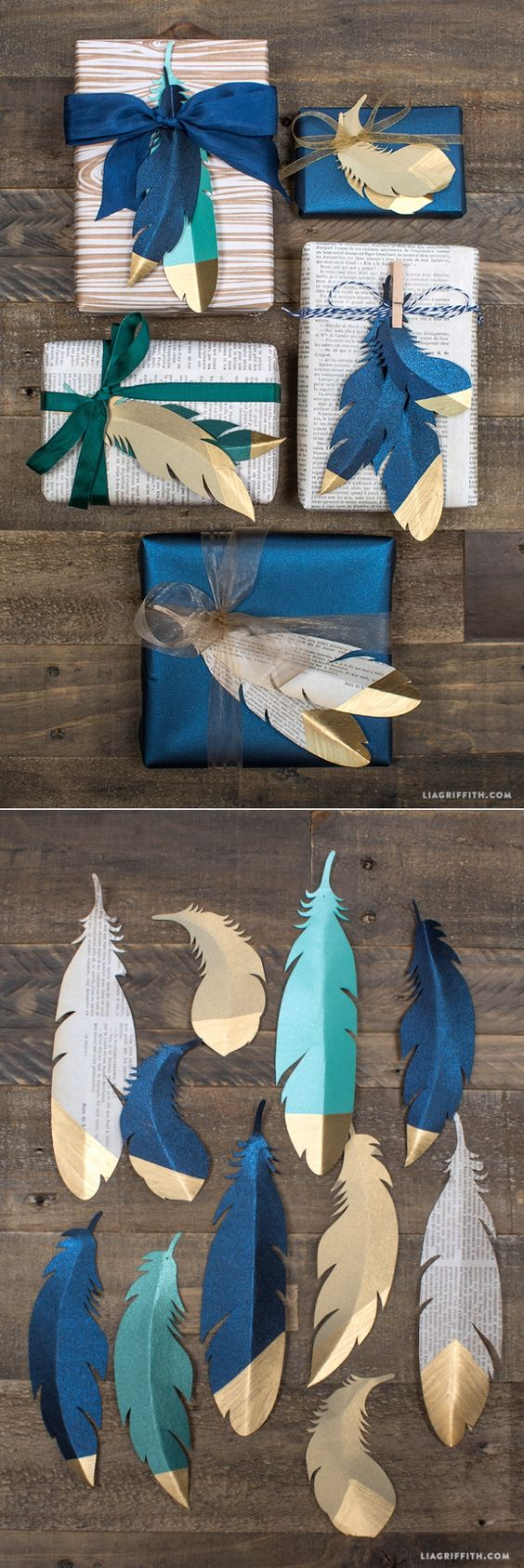 3 Creative DIY Ideas  and  Tutorials for Gift Wrapping