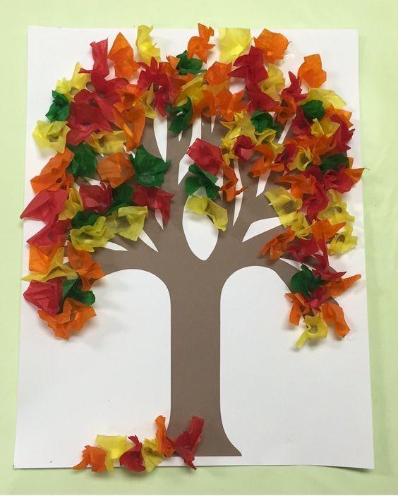 32 Fall Tissue Paper Tree