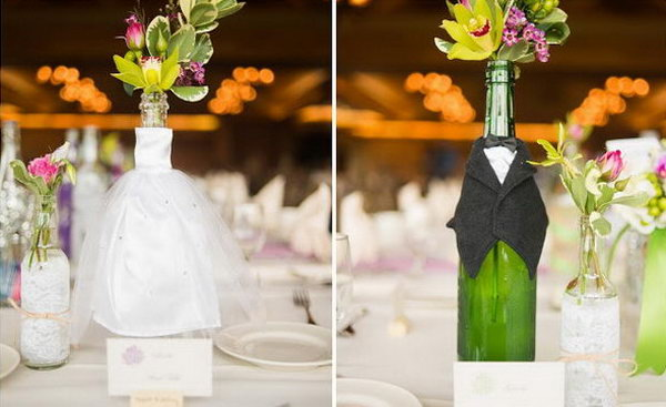 40 Awesome DIY Wine Bottle Centerpieces For Any Table – Page 13 ...