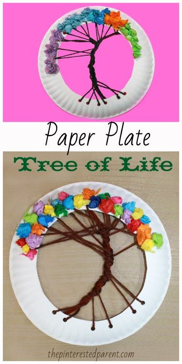 33 Paper Plate Tree Of Life Craft