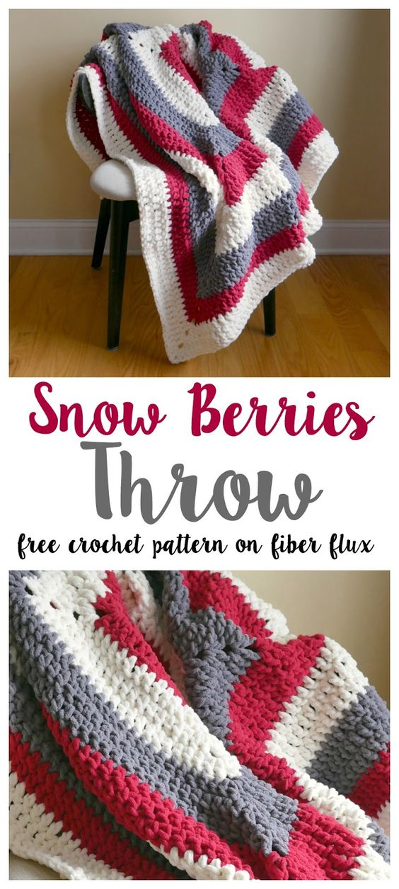 4 Beautiful Crochet Blankets with Free Patterns