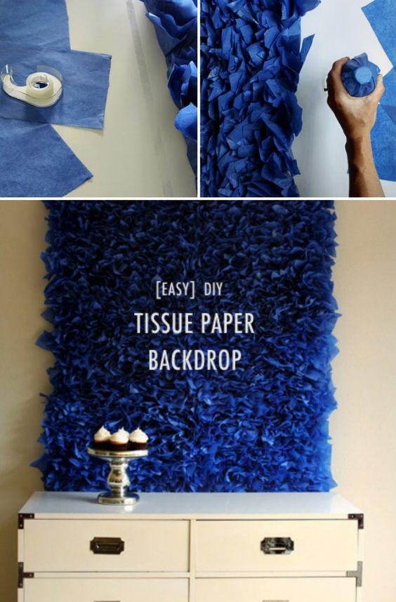 4 Easy DIY Tissue Paper Crafts