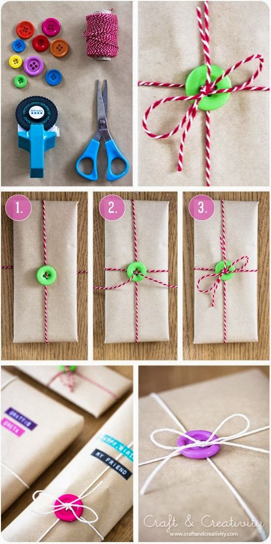 5 Creative DIY Ideas  and  Tutorials for Gift Wrapping