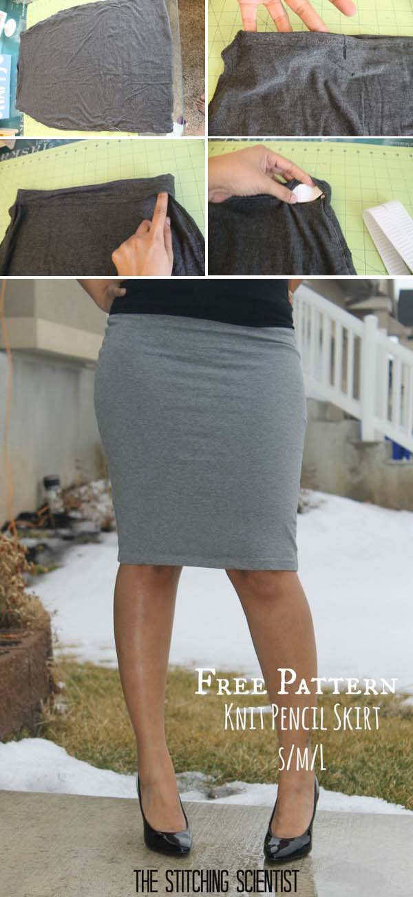 5 DIY Pencil Skirt Ideas  and  Tutorials
