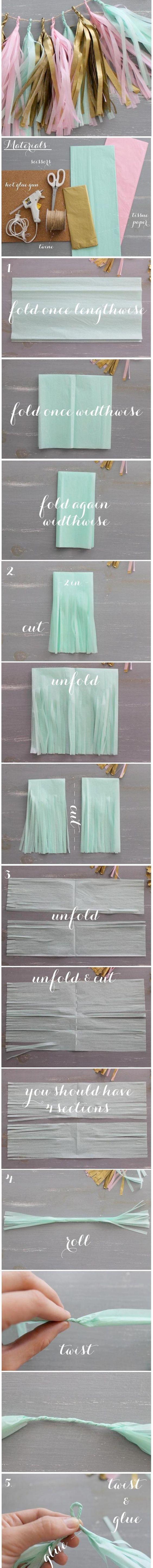 5 Easy DIY Tissue Paper Crafts