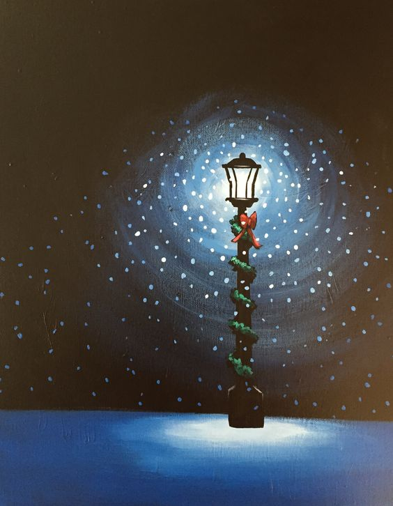 6 amazing canvas painting ideas for christmas