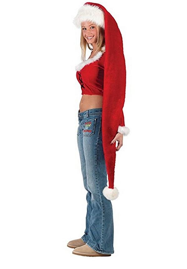 Yansanido 5 Feet Long Santa Hat for Fun-Filled Christmas and Holiday Party