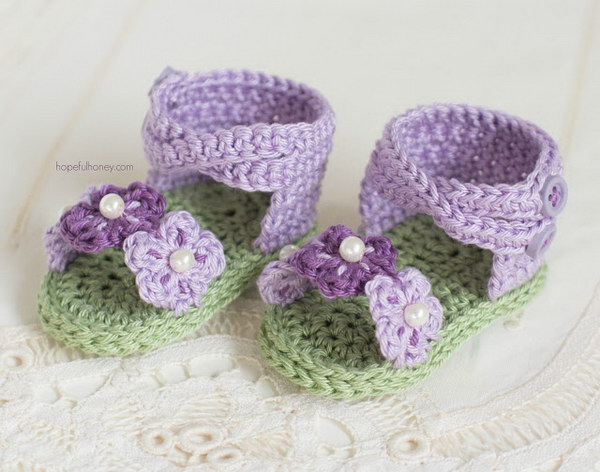 41 Adorable Crochet Baby Sandals With Free Patterns Page 11