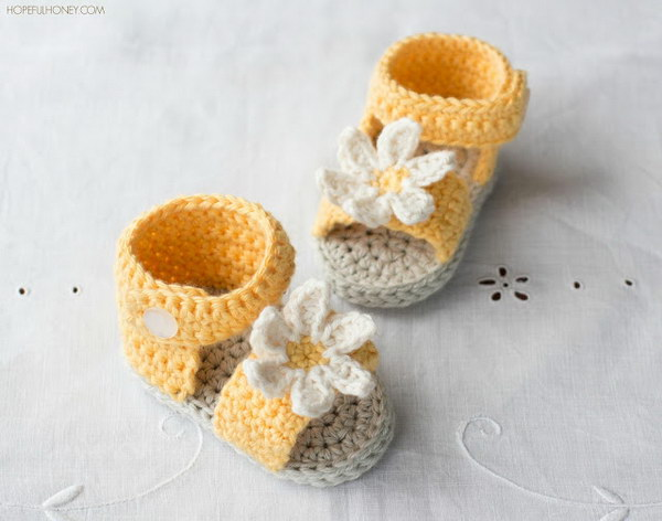 41 Adorable Crochet Baby Sandals With Free Patterns Page 15