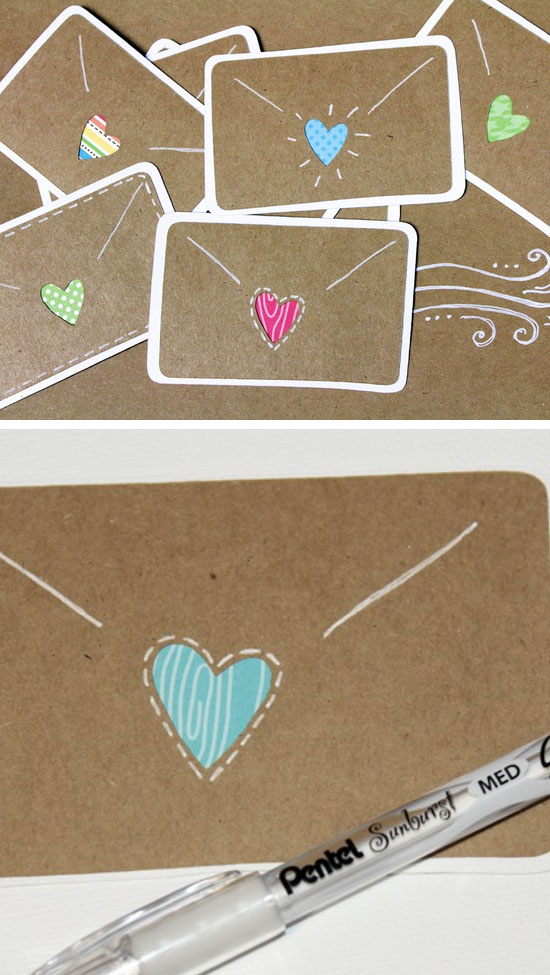 17 DIY Valentines Day Card Ideas  and  Tutorials