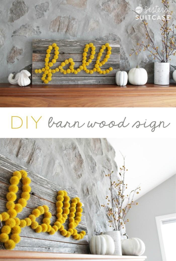 28 DIY Fall Barn Wood Sign