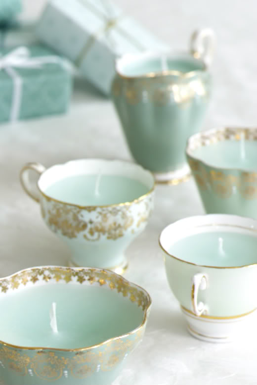 31 DIY Teacup Candles