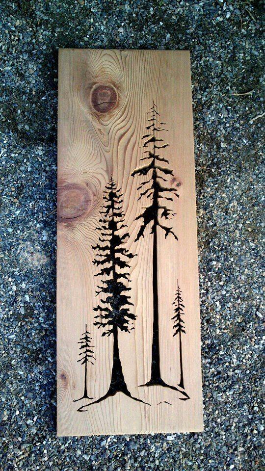 31 Wood Burning Tall trees