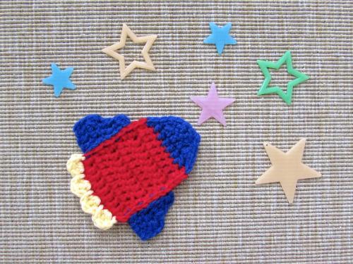 36 Crochet Rocket Ship