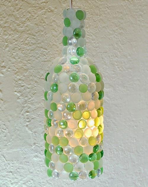 36 Glass Pebble Wine Bottle Lights