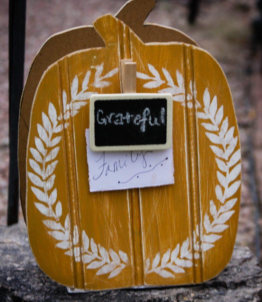 36 Gratitude Wood Chalkboard Pumpkins