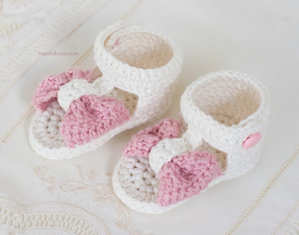 41 Adorable Crochet Baby Sandals With Free Patterns – Page 40 ...