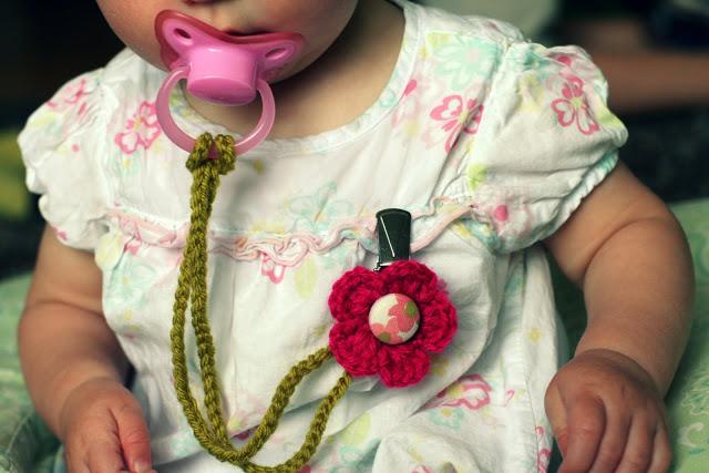 42 Crocheted Binky Clip