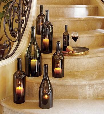 42 Romantic wine bottle lighting