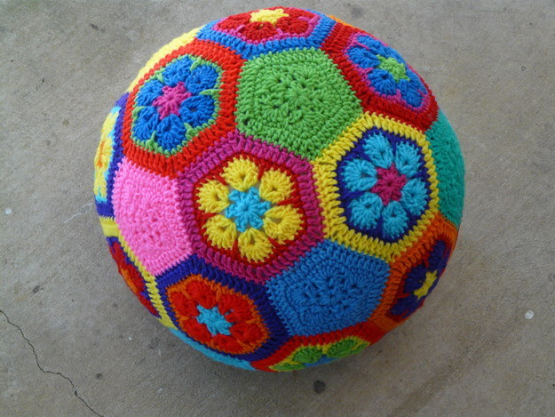 44 African Flower Soccer Ball
