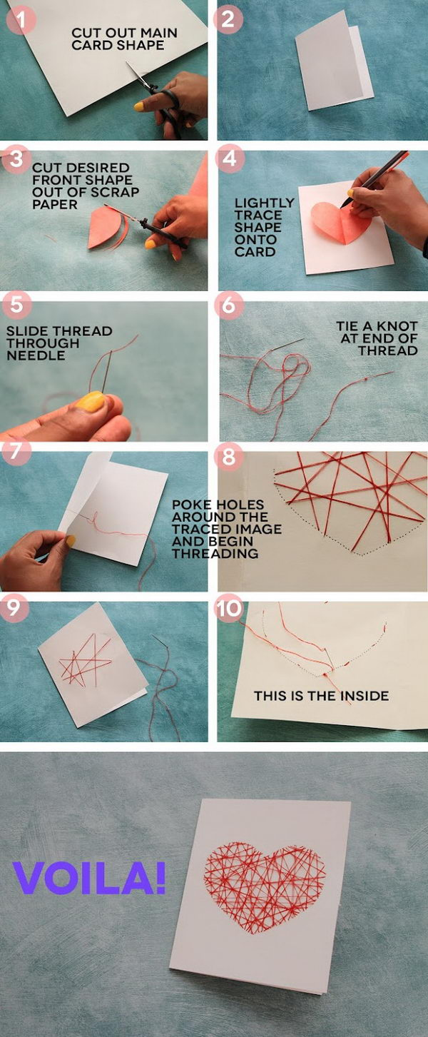 8 DIY Valentines Day Card Ideas  and  Tutorials