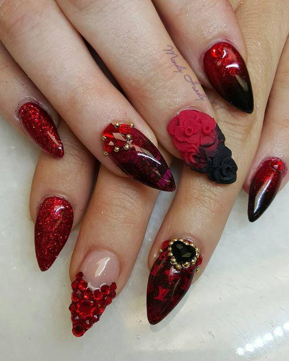 10 valentines nails