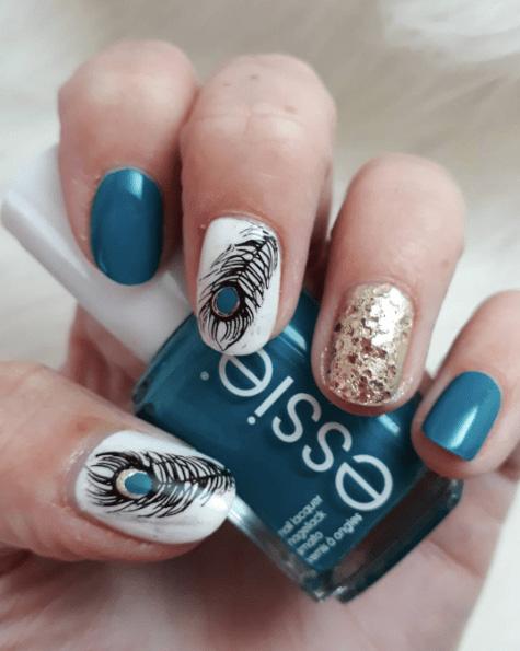11 Peacock Nails