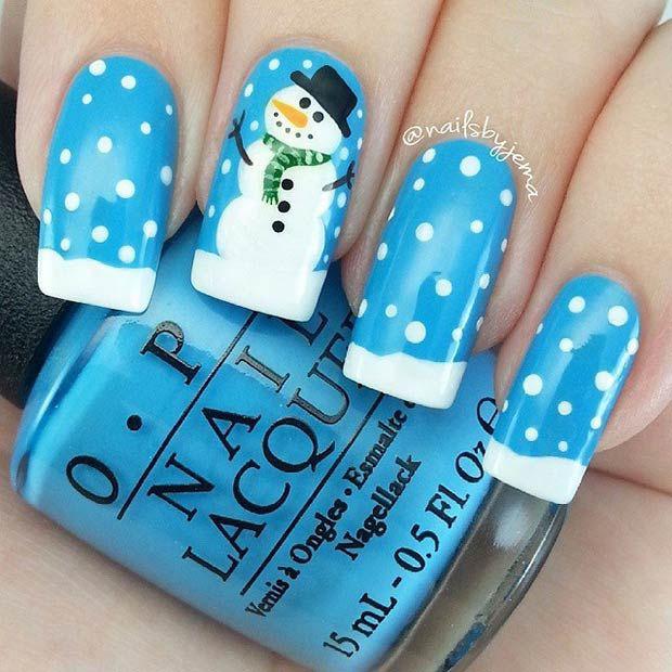 18 Snowy Nail Designs