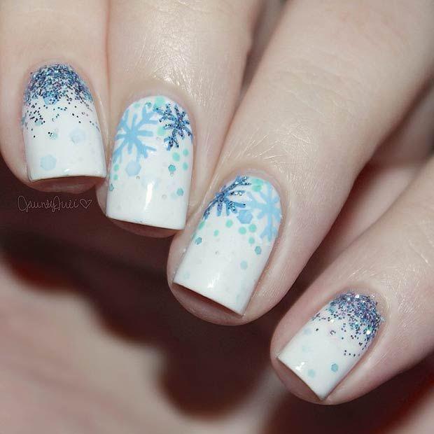 3 Snowy Nail Designs