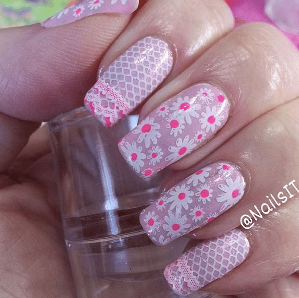 31 Looks Pretty Pink Nail Inspiration Page 30 Foliver Blog