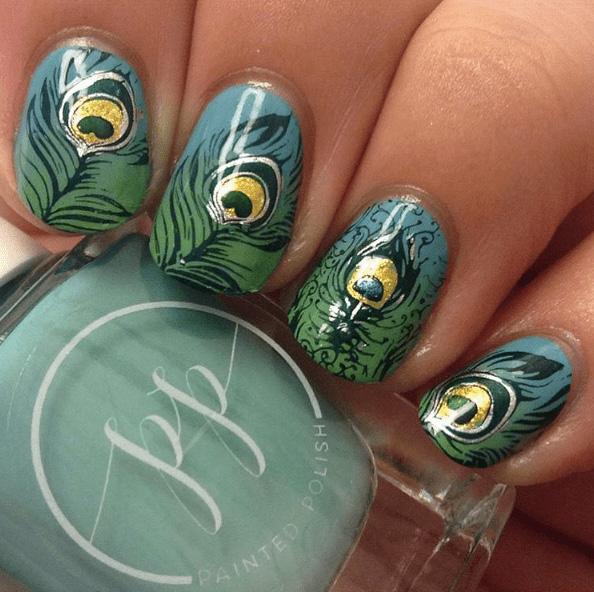 5 Peacock Nails