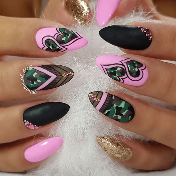 6-Camouflage-Nail-Designs