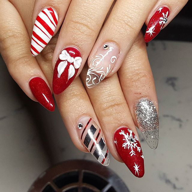 6 Christmas 2018 Mani Ideas