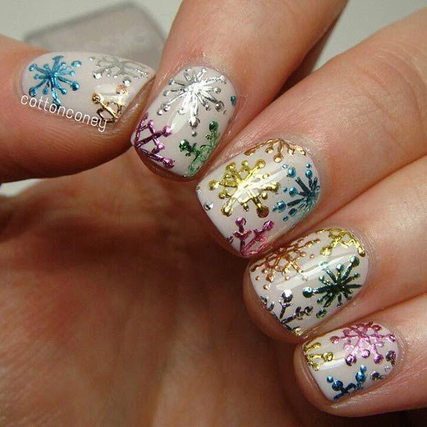 6 Snowy Nail Designs
