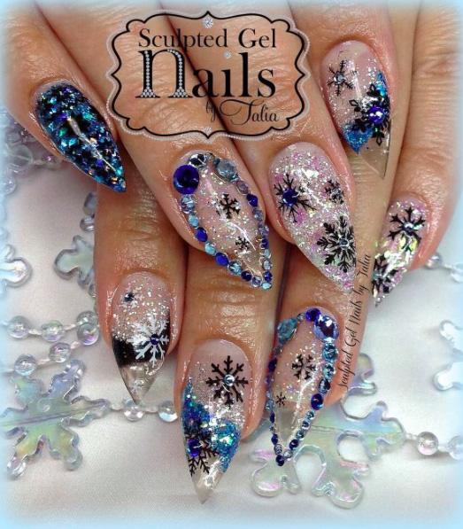 9 Snowy Nail Designs