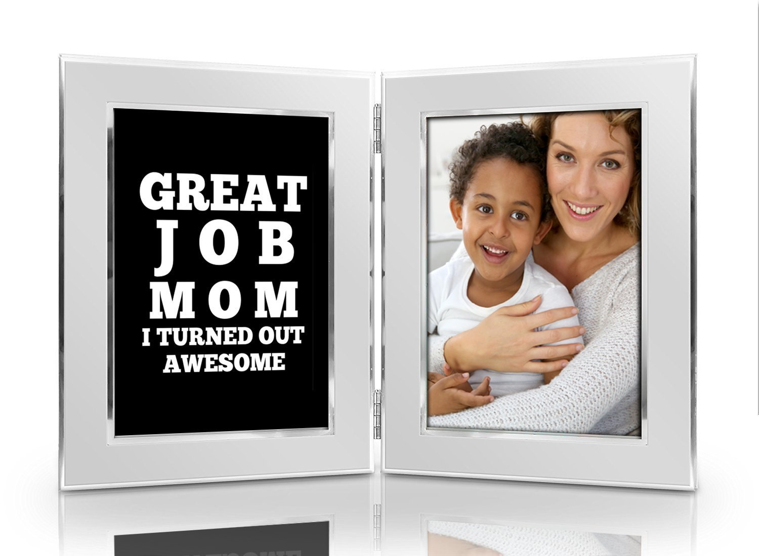 4 Great Job Mom I Turned Out Awesome 4x6 Funny Picture Frame Set