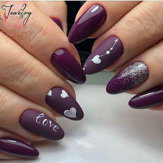17 valentines nails
