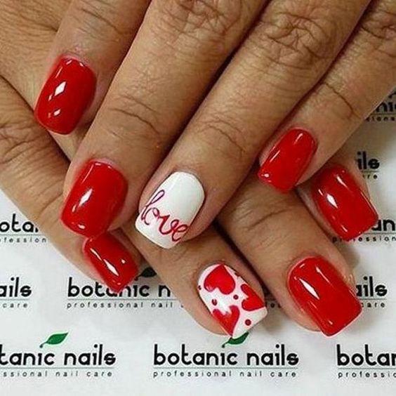 21 valentines nails