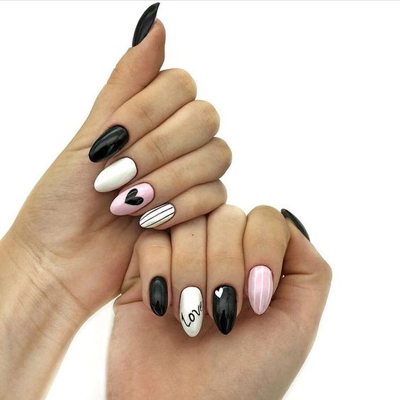 23 valentines nails