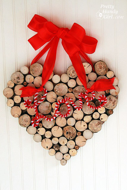 4 A Valentines Day Wreath from Tree Branches