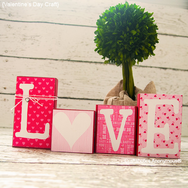 7 Easy DIY Love Blocks