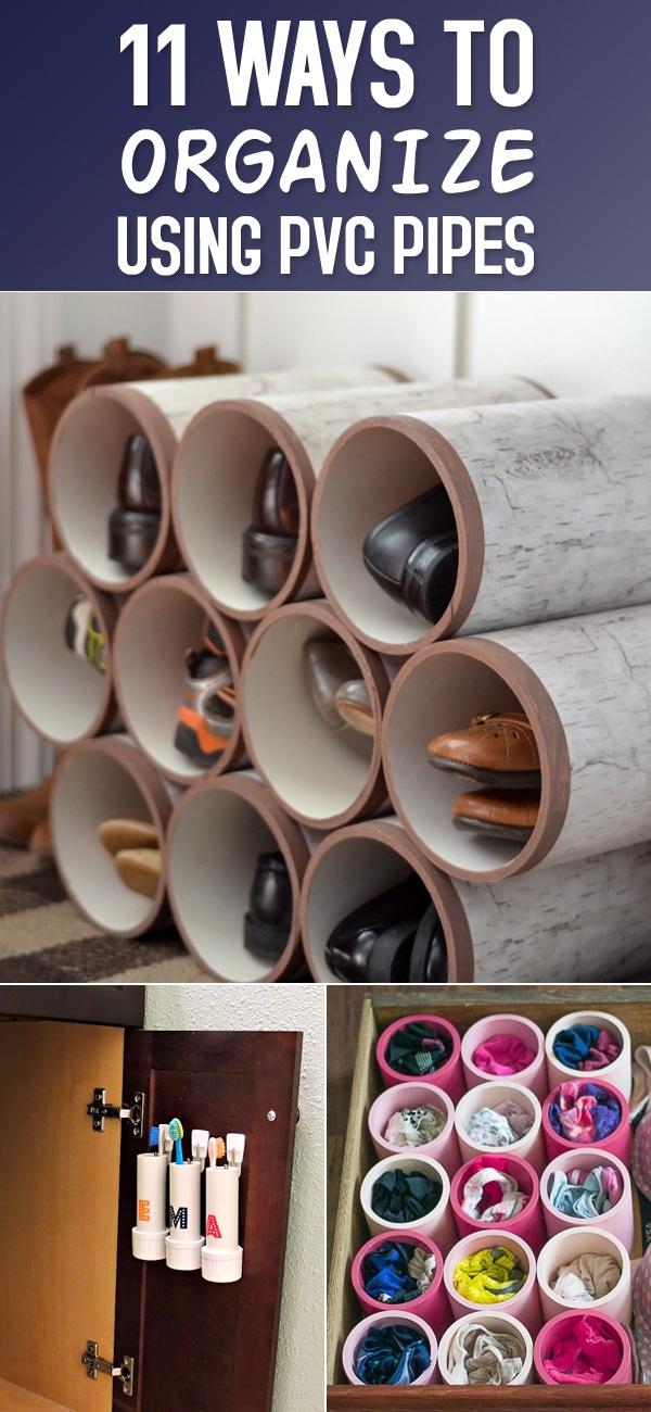 1 Ingenious Ways to Organize Using PVC Pipes