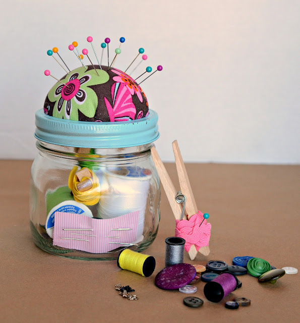 1 Sewing Kit in a Jar
