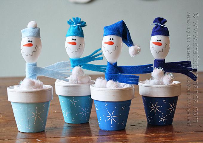 13 Creative and Fun Snowman Craft Ideas