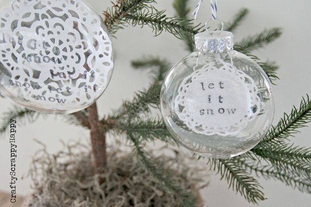 15 Creative Ideas for Decorating and Filling Clear Glass Ornaments