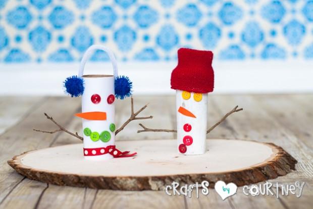 16 Creative and Fun Snowman Craft Ideas