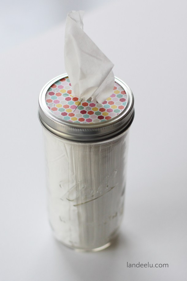 22 Mason Jar Tissue Holder