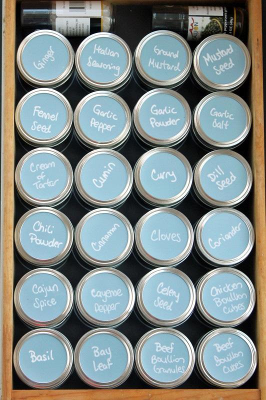26 Mason Jar Spice Organizer