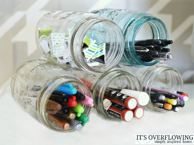 3 Amazing Ideas For Organizing With Mason Jars