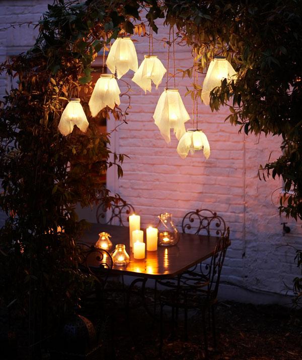 34 Hanging Firefly Glass Lanterns